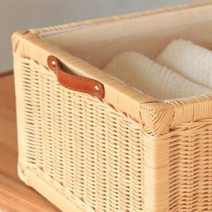 ランドリーチェスト チーク無垢材とラタンのランドリーチェスト ( チェスト 収納 ランドリー )|interior-palette|05