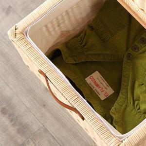ランドリーチェスト チーク無垢材とラタンのランドリーチェスト ( チェスト 収納 ランドリー )|interior-palette|06