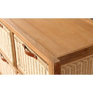 ランドリーチェスト チーク無垢材とラタンのランドリーチェスト ( チェスト 収納 ランドリー )|interior-palette|07