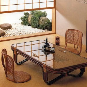 籐 ラタン 籐座椅子 ( 座椅子 椅子 イス )|interior-palette|03