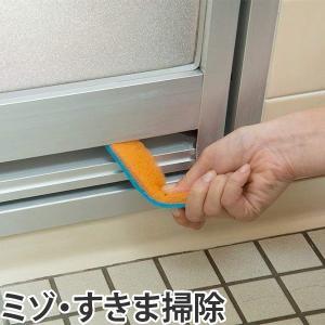 研磨剤入り スポンジスティック 浴室ミゾ 隙間用 ( 風呂掃...