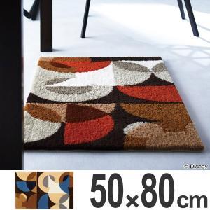 玄関マット 室内 スミノエ ミッキー セミサークルマット 50×80cm ( エントランスマット ディズニー ミッキーマウス )|interior-palette