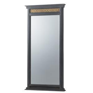 スタンドミラー 立て掛け型 天然木フレーム エスニック調 幅65cm ( 姿見 鏡 全身鏡 )|interior-palette