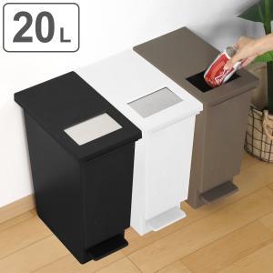ゴミ箱 ペダル ユニード プッシュ&ペダル 20S ( ごみ箱 ダストボックス スリム ふた付 キッチン )の写真