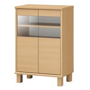 キャビネット 食器棚 ナチュラルテイスト ネオスタ 幅約57cm ( 収納棚 カップボード 北欧 木目調 木製 ナチュラル )|interior-palette