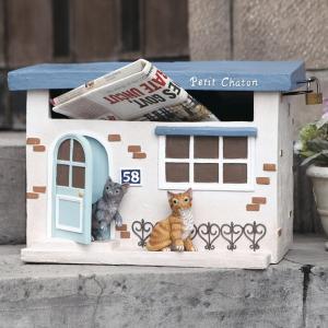 【15日限定クーポン配布】郵便ポスト 置き型 Chaton ( ポスト 郵便受け メールボックス 猫...