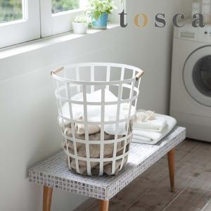 脱衣かご ランドリーバスケット トスカ ラウンド tosca ( 脱衣カゴ 洗濯かご ワイヤー ランドリー 洗濯カゴ 洗濯物入れ )|interior-palette