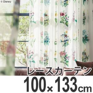 カーテン レースカーテン スミノエ ミッキー アンティ−クフラワ− 100×133cm ( ディズニー ボイルカーテン レース )|interior-palette