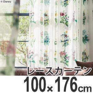 カーテン レースカーテン スミノエ ミッキー アンティ−クフラワ− 100×176cm ( ディズニー ボイルカーテン レース )|interior-palette