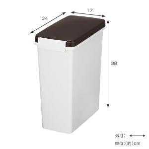 ゴミ箱 分別 臭わない 防臭 パッキン付き スリムペール 14L 幅17cm ( ごみ箱 分別 ダストボックス 縦型 プラスチック製 )|interior-palette|02