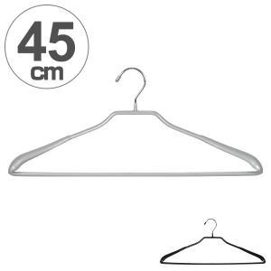すべらないハンガー アニマーレ スーツ45 薄型 ( ハンガー 衣類ハンガー スーツ用 すべりどめ スラックス バー )|interior-palette
