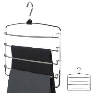 すべらないハンガー アニマーレ スラックス4段 ズボン用 ( ハンガー スラックスハンガー 衣類ハンガー パンツ用 スラックス用 すべりどめ 収納 )|interior-palette