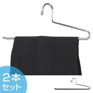 すべらないハンガー アニマーレ スラックスハンガー 2本組 ( ハンガー スラックスハンガー 衣類ハンガー パンツ用 スラックス用 すべりどめ 収納 )|interior-palette