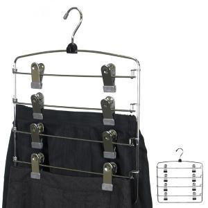 すべらないハンガー アニマーレ スカートハンガー4段 ( 衣類ハンガー スラックスハンガー 省スペース ボトム用 スカート用 スラックス用  )|interior-palette