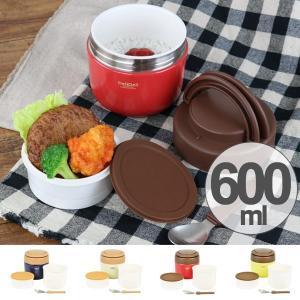 ランチジャー 保温 弁当箱 DeliDeli デリデリ ステンレス どんぶりランチジャー スプーン付き 600ml ( お弁当箱 ランチボックス 丼 麺 )|interior-palette