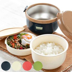 ランチジャー 保温 弁当箱 ほかどん どんぶり ステンレス どんぶり 710ml ( お弁当箱 ランチボックス 丼 麺 )|interior-palette