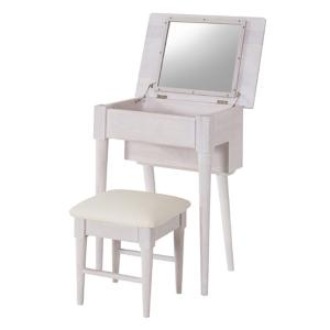 ドレッサー スツールセット フレンチカントリー Natura 幅58cm ( 鏡台 かわいい コンパクト テーブル デスク 化粧台 フレンチ ) interior-palette