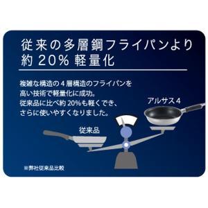 アルサス4 フライパン 20cm IH対応 日本製 ( ガス火対応 炒め鍋 キッチン用品 )|interior-palette|04