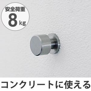 フック 壁 コンクリート用 吊り下げ ネジ式 安全荷重8kg 日本製 ( 木壁 強力 強力フック コンクリート ) interior-palette