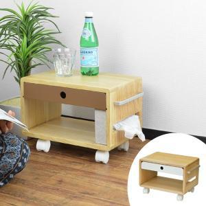 サイドワゴン 布団サイドワゴン キャスター付き 幅37cm ( サイドテーブル サイドキャビネット 小物収納 )|interior-palette