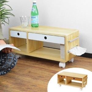 サイドワゴン 布団サイドワゴン キャスター付き 幅56cm ( サイドテーブル サイドキャビネット 小物収納 )|interior-palette
