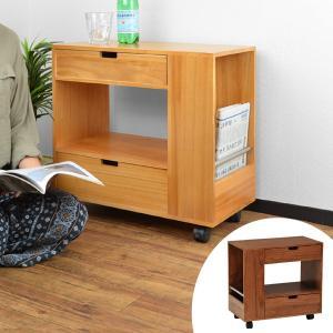 サイドテーブル ソファサイドテーブル キャスター付き ( サイドワゴン サイドキャビネット 小物収納 )|interior-palette