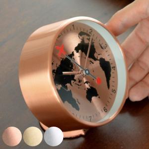 時計 アラーム時計 置き時計 EDGE BESIDE GLOBE ( 目覚まし時計 アラームクロック おしゃれ )|interior-palette