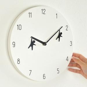 時計 掛け時計 ウォールクロック EDGE HANGING MAN 直径30cm ( 壁掛け時計 壁掛け 木製 ) interior-palette