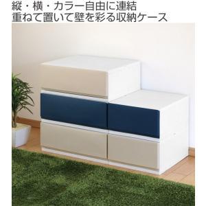 収納ケース プラスチック 引き出し フロスト 彩 幅35×奥行44×高さ20cm チェスト 日本製 ( 収納 収納ボックス 衣装ケース クローゼット収納 )|interior-palette|02