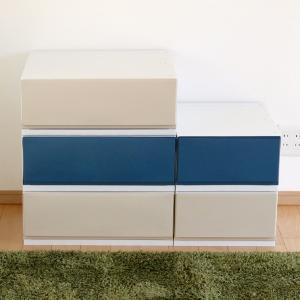 収納ケース プラスチック 引き出し フロスト 彩 幅35×奥行44×高さ20cm チェスト 日本製 ( 収納 収納ボックス 衣装ケース クローゼット収納 )|interior-palette|07