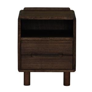ナイトテーブル ベッドサイドテーブル 天然木 オイル仕上 GABAN 幅40cm ( サイドテーブル ミニチェスト ソファサイド 収納棚 ラック 棚 桐製 )|interior-palette