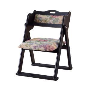 【12時間限定クーポン】座椅子 折りたたみ椅子 座面高36cm 花柄 ( チェア いす 椅子 コンパクト ) interior-palette