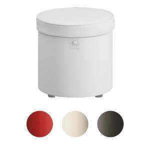 スツール 収納付 丸型 フォルテ 直径33cm ( 収納 ボックス 椅子 イス 収納ボックス シンプル オットマン おしゃれ )|interior-palette