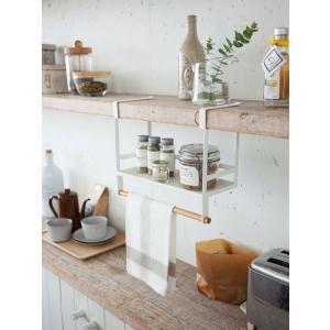 調味料ラック 戸棚下調味料ラック ホワイト トスカ tosca ( キッチン収納 戸棚下収納 ペーパーホルダー )|interior-palette|06