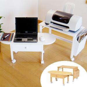 【ポイント最大26倍】パソコンテーブル プリンター台セット キャスター付き ( パソコンデスク パソコン机 作業台 )|interior-palette