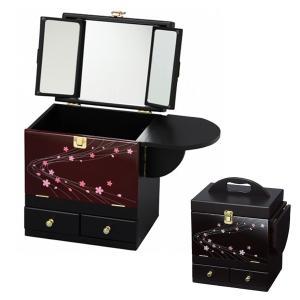 コスメボックス 三面鏡 和風 ( メイクボックス ドレッサー メイク台 )|interior-palette