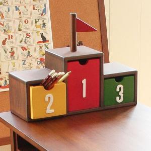キッズ収納家具 表彰台ボックス noteco ( キッズ用 子供用 小物入れ )|interior-palette