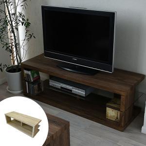 テレビ台 ガラス棚 古材風 ヴィンテージ調 SAND 幅120cm ( TV台 ローボード テレビ 置き おしゃれ 収納 オープン ラック リビング )|interior-palette