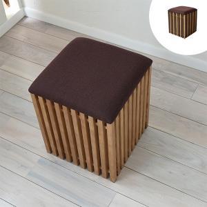 収納スツール 天然木 FOREST 座面高42cm ( 座椅子 ローチェア 収納付 木製 )|interior-palette