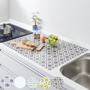 調理台マット シリコン キッチントップ保護マット 60×75cm ( シリコン製マット 調理マット 大判サイズ )|interior-palette