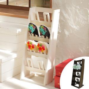 スリッパラック 4段 木目調 RECTAN ( スリッパ収納 スリッパ 4足 木製 シンプル おしゃれ )|interior-palette