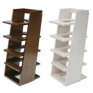 スリッパラック 5段 木目調 RECTAN ( スリッパ収納 スリッパ 5足 木製 シンプル おしゃれ )|interior-palette
