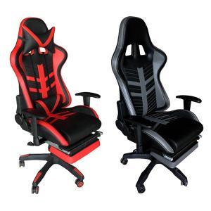オフィスチェア 椅子 収納式オットマン レーシングチェアー Monza ( チェア チェアー イス オフィス リクライニング オットマン かっこいい おしゃれ )|interior-palette