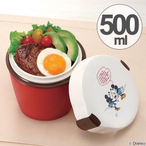保温弁当箱 カフェスタイルランチ カフェ丼ランチ 500ml ミッキー&ミニー ( ランチボックス 弁当箱 食洗機対応 )|interior-palette