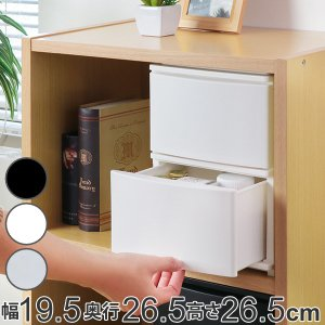 収納ケース 引き出し 幅19.5×奥行26.5×高さ26.5cm A5 深2段 ( 収納ボックス プラスチック 小物 収納 )|interior-palette