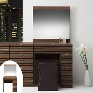 ドレッサー 木製 ルーバーデザイン WOLFU 幅65cm ( 化粧台 鏡台 メイク台 ) interior-palette