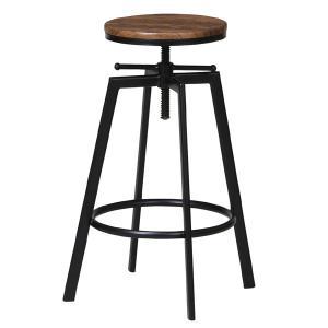 ハイスツール スチールフレーム 座面高調節機能 ( スツール 椅子 いす イス アンティーク 昇降 カウンターチェア )|interior-palette