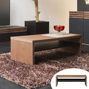 ローテーブル リビングテーブル ウォールナット ACOORD 幅110cm ( テーブル 収納 センターテーブル シンプル 木製 木目 おしゃれ 完成品 ) interior-palette