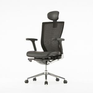 オフィスチェア エグゼクティブチェアー メッシュバック ( オフィスチェアー メッシュ ハイバック  レザー デスク用チェア 腰痛 オフィス 椅子 本皮 )|interior-palette