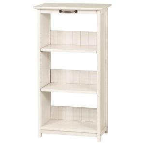 本棚 ブックシェルフ カントリー調 MIGNON 幅50cm ( クラシック調 ガーリー 白家具 棚 ラック 収納 ホワイト アンティーク )|interior-palette